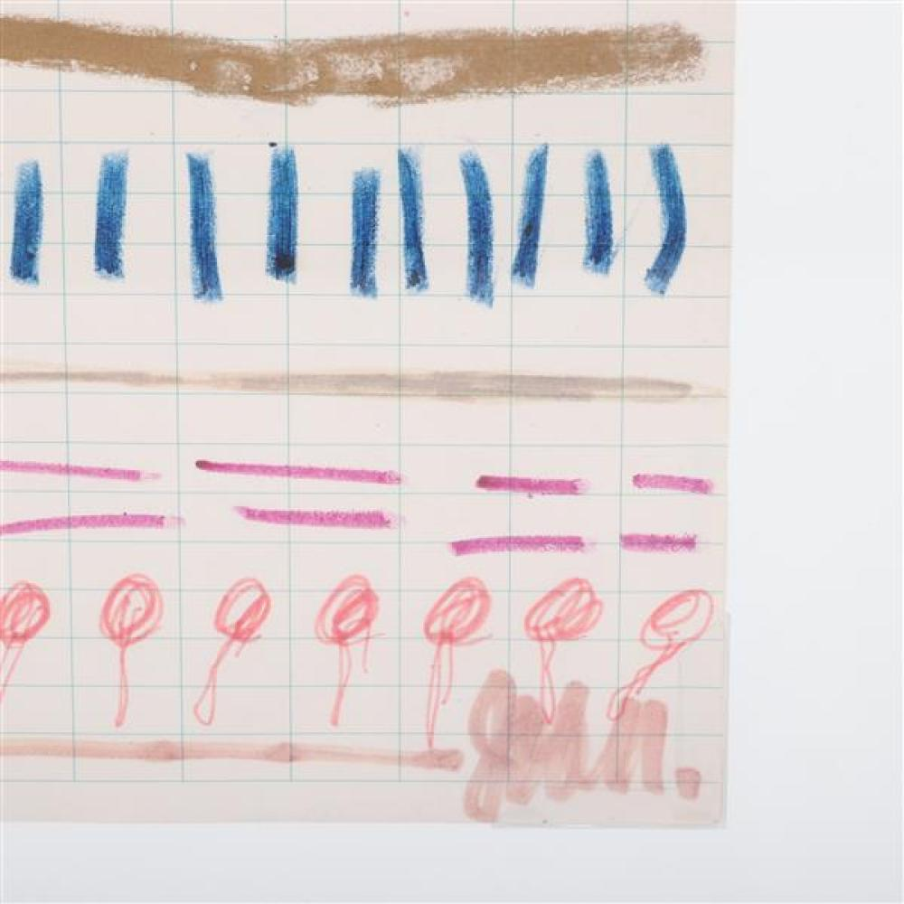 Joan Snyder, (New York / New Jersey, b.1940), Study For Letter To Marcia, 1970, crayon and magic marker on paper, 11