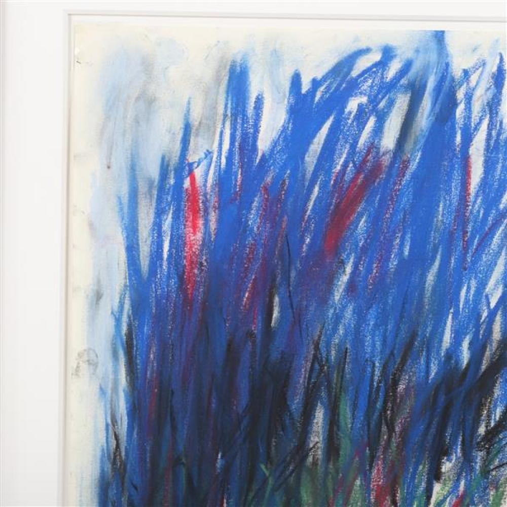 "Joan Mitchell, (American, 1925 - 1992), untitled, 1977, pastel on paper, 16 1/4""H x 13 1/2""W (sight), 23""H x 20 1/2""W (frame)"