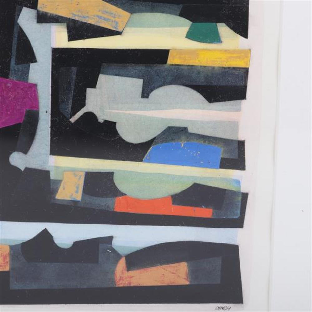Frederick Lynch, (American, 1935-2016), untitled, mixed media / collage on paper, 8 1/2