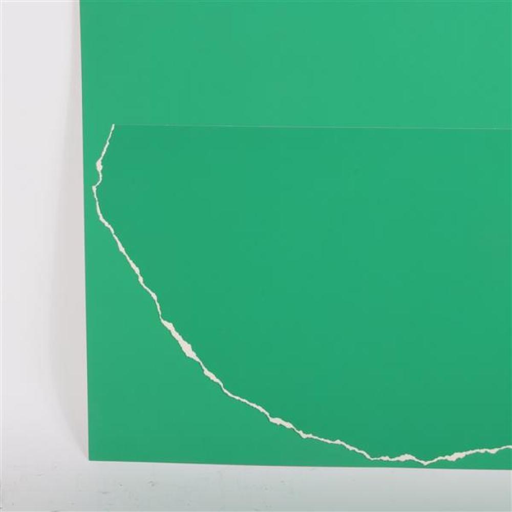 Stephen Antonakos, (New York, 1926-2013), 4/6 PP Tear III, 1979, torn paper collage, 30
