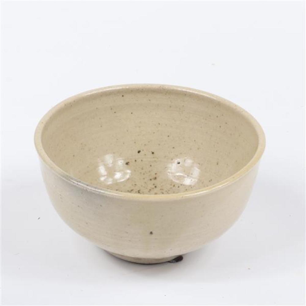 Toshiko Takaezu, bowl, glazed ceramic, 3 1/2