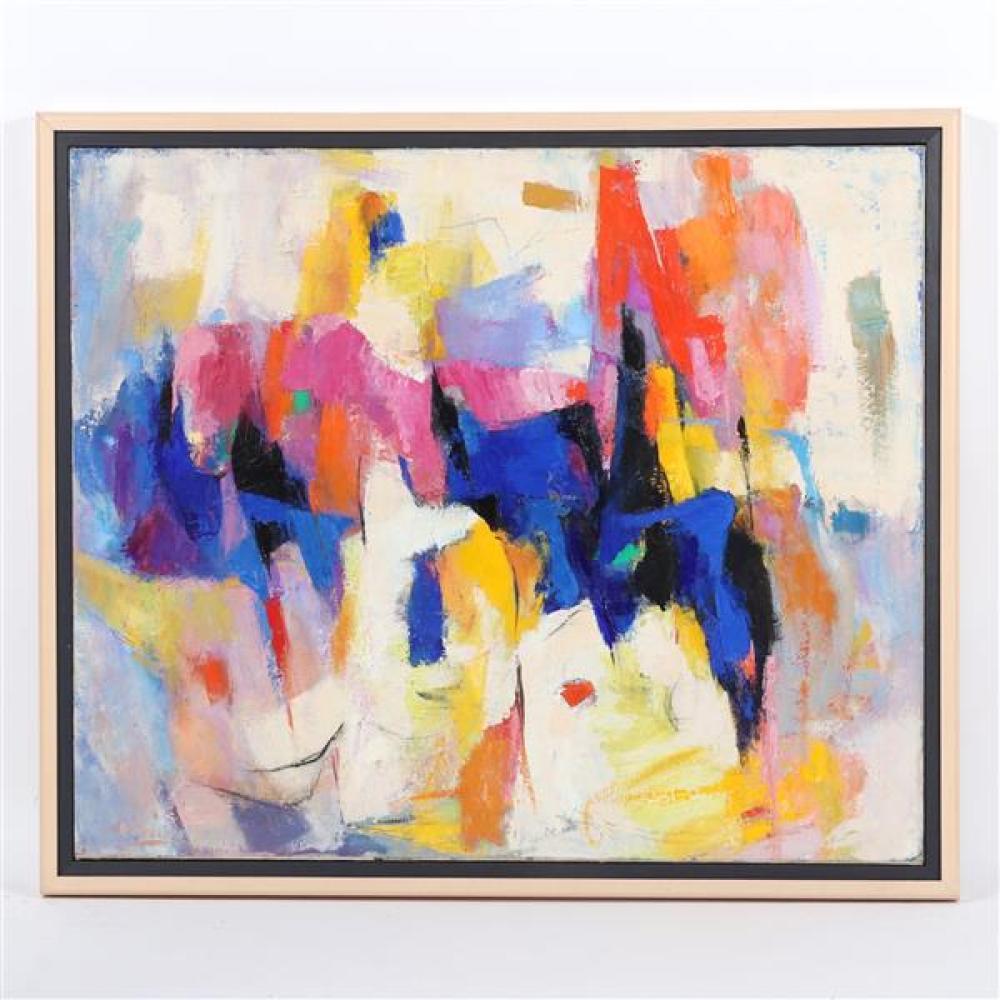 Louise Woodroofe, (Illinois, 1892-1996), Circus Spec., oil on canvas, 24 3/4