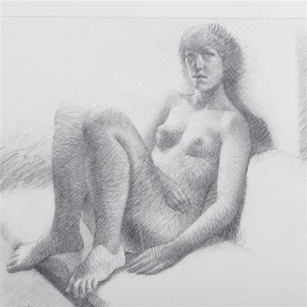 Alan Feltus, (District of Columbia / Italy, b.1943), female nude, 1973, graphite / pencil on paper, 13