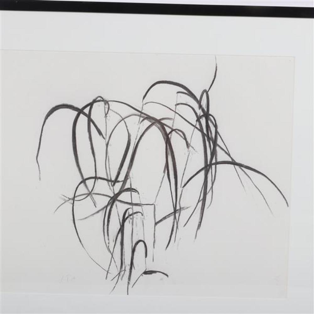 Susan Hartnett, (New York / Maine / New Jersey, b. 1940), July 6, '96, #1, charcoal on paper, 17 1/2