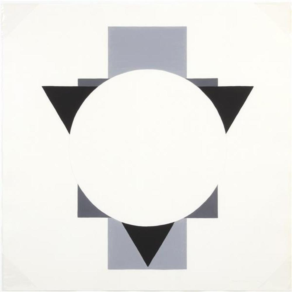 "John Goodyear, (New Jersey / Michigan / Japan, 1930-2019), untitled, 1974 geometric hard edge painting, gouache on paper, 21 3/4""H x..."