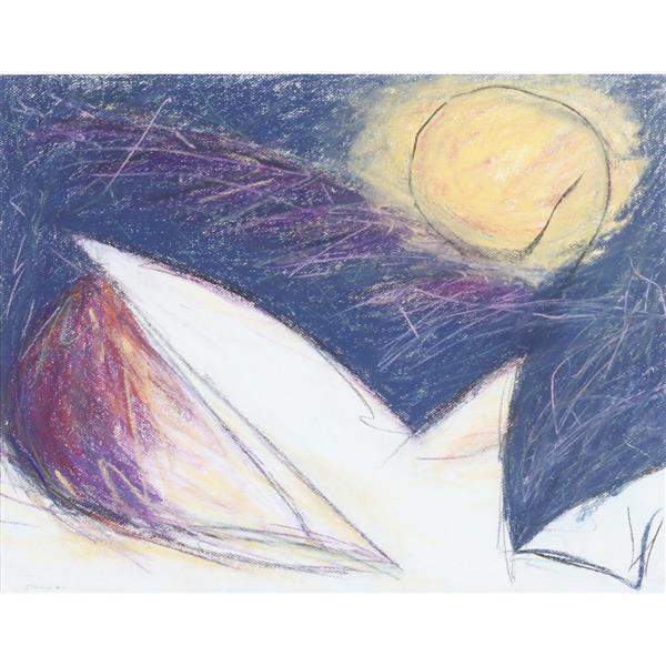 "Martha Donovan Opdahl, (Santa Fe, 20th / 21st Century), Icarus #11, 1991, pastel on paper, 18 3/4""H x 23 1/4""W (sight), 27 1/4""H x 3..."