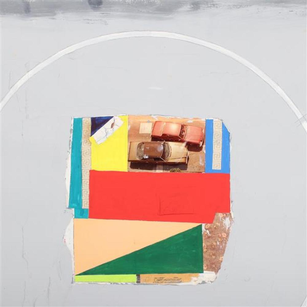 """Peter Plagens, (American, b.1941), Study: Faith, Fact, Feeling, mixed media collage on paper, 29 1/2""""H x 41 1/2""""W"""