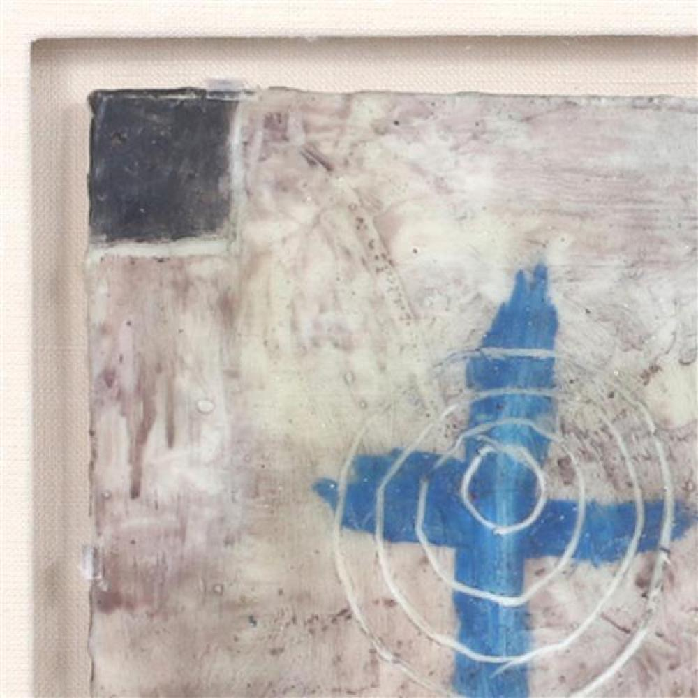 Squeak Carnwath, (California, b.1947), Sound, 1988, oil and wax on panel., 6 1/2