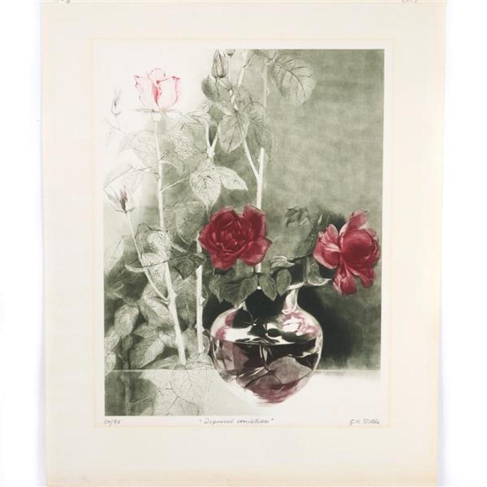 "G.H. (Gatja) Rothe, (1935 - 2007), Deprived Condition, mezzotint, 24 3/4""H x 19""W (plate), 31""H x 25 1/4""W (paper)"