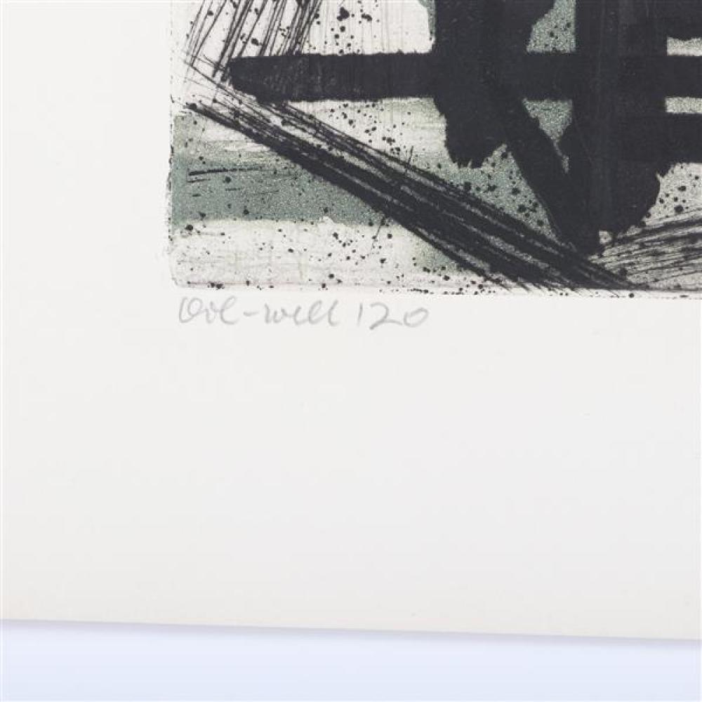 "Terry Haass, (Czech, b.1923), Oil Well - 120, color etching, 10 1/4""H x 14 1/4""W (plate), 14 3/4""H x 19 1/2"" (paper)"