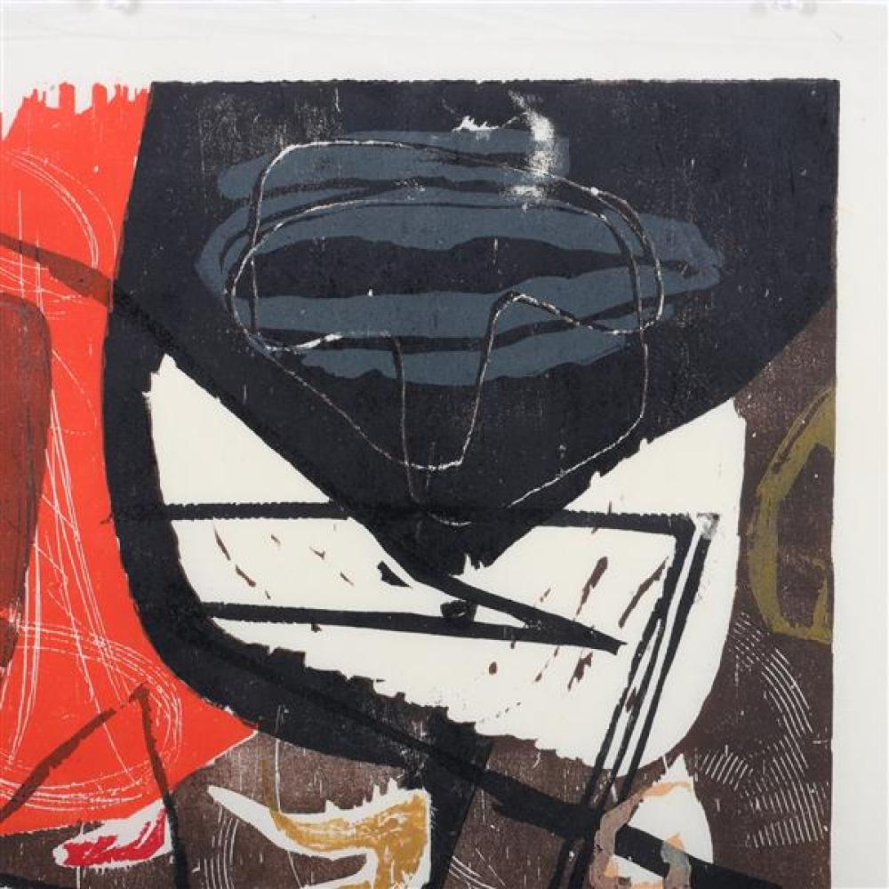 """Adja Yunkers, (1900-1983), Composition, 1955, color woodcut, 20 1/2""""H x 13 1/2""""W (plate), 24 1/4""""H x 16 1/4""""W (paper)"""