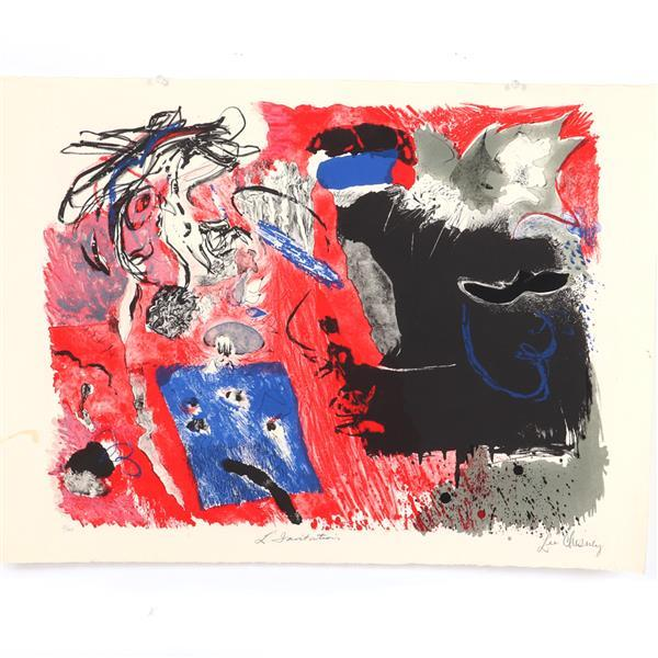 "Lee Chesney, (American, 1920-2016), L'Invitation, lithograph, 22""H x 29 3/4""W"