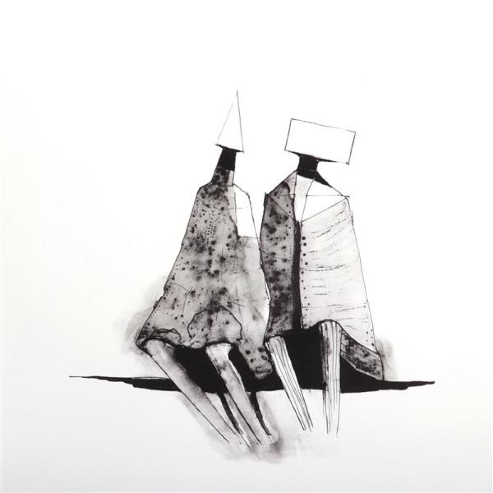 Lynn Russell Chadwick, Two Figures, 1971, lithograph, 29 1/2