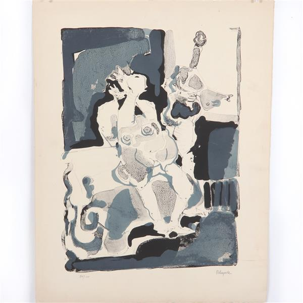 "Paul Rebeyrolle, (French, 1926-2005), untitled, abstract nudes, lithograph, 25 3/4""H x 19 3/4""W"