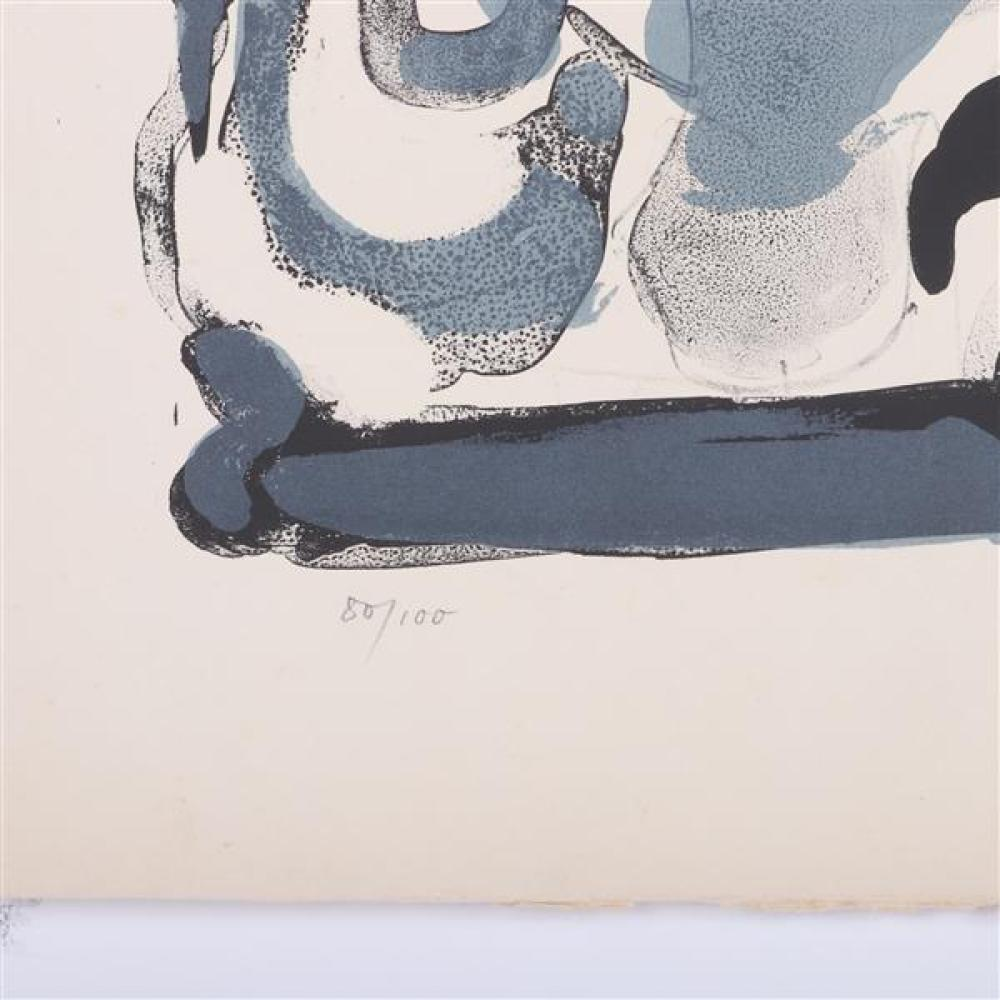 Paul Rebeyrolle, (French, 1926-2005), untitled, abstract nudes, lithograph, 25 3/4