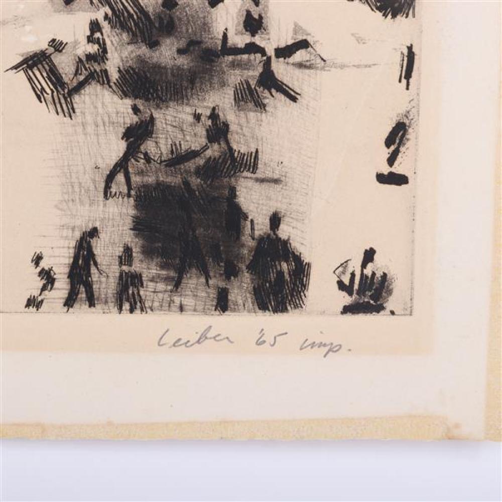 Gerson August (Gus) Leiber, (American, 1921-2018), The Beach, etching, 22
