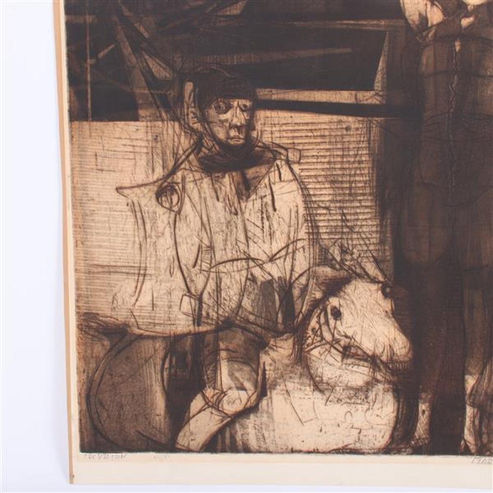 Mauricio Lasansky, (Argentinian American / New York, 1914 – 2012), The Vision, etching, 12 1/2