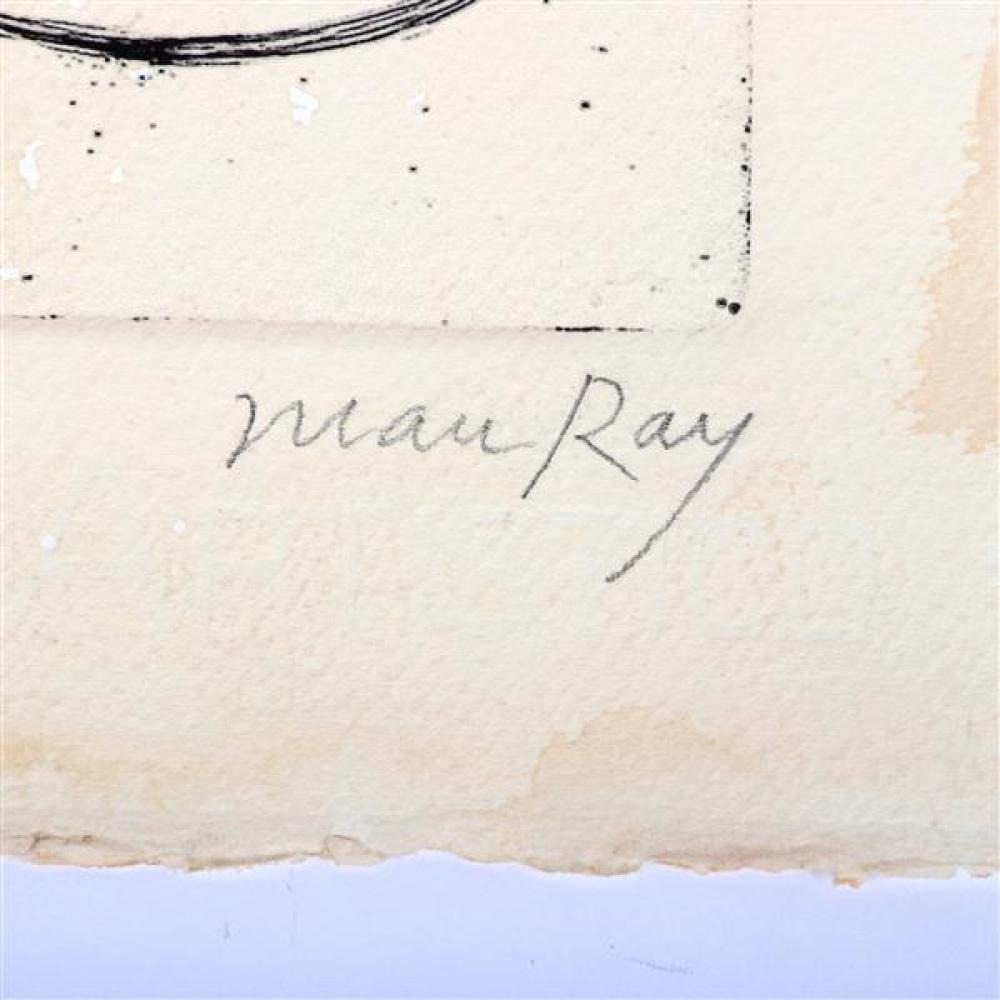 Man Ray, (1890-1976), After Johannes Baargeld, Das menschliche Auge und ein Fisch, letzterer versteinert, 1920, etching, 5