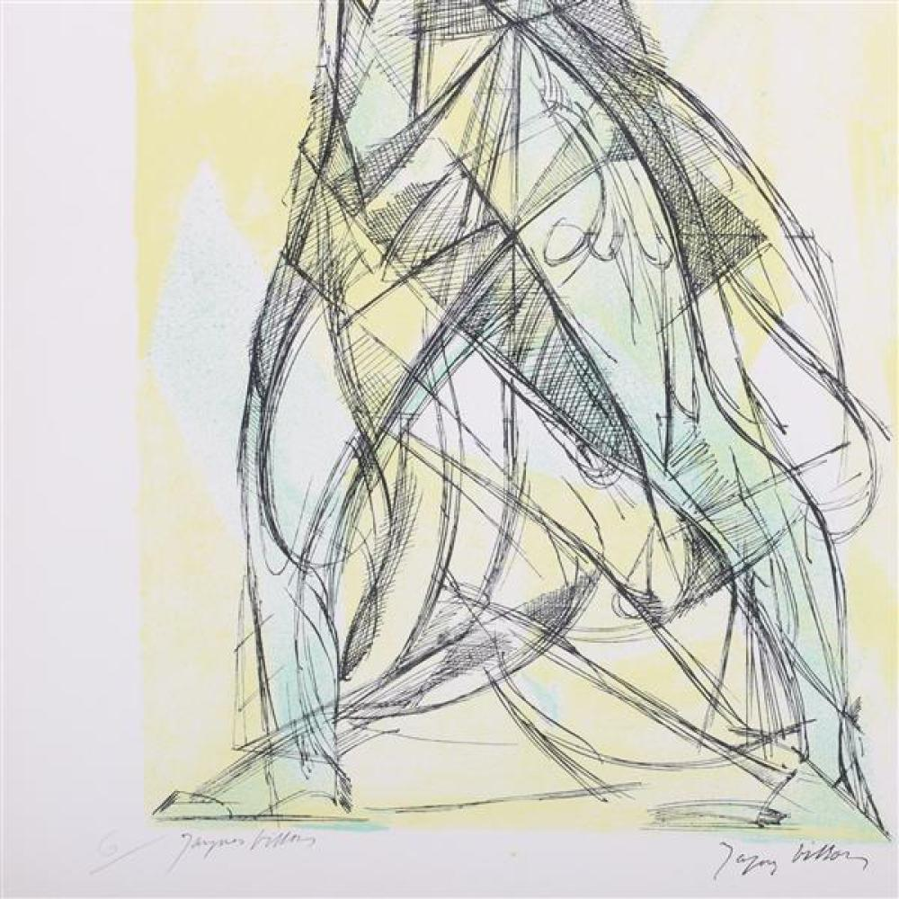 Jacques Villon, (French, 1875-1963), Nike of Samothrace, lithograph in colors, 17 1/2