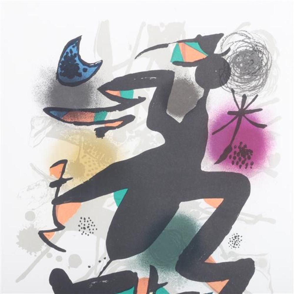Joan Miro, (Spanish, 1893-1983), Lithographs III: plate 4, 1977, lithograph in colors on wove paper, 19 1/4
