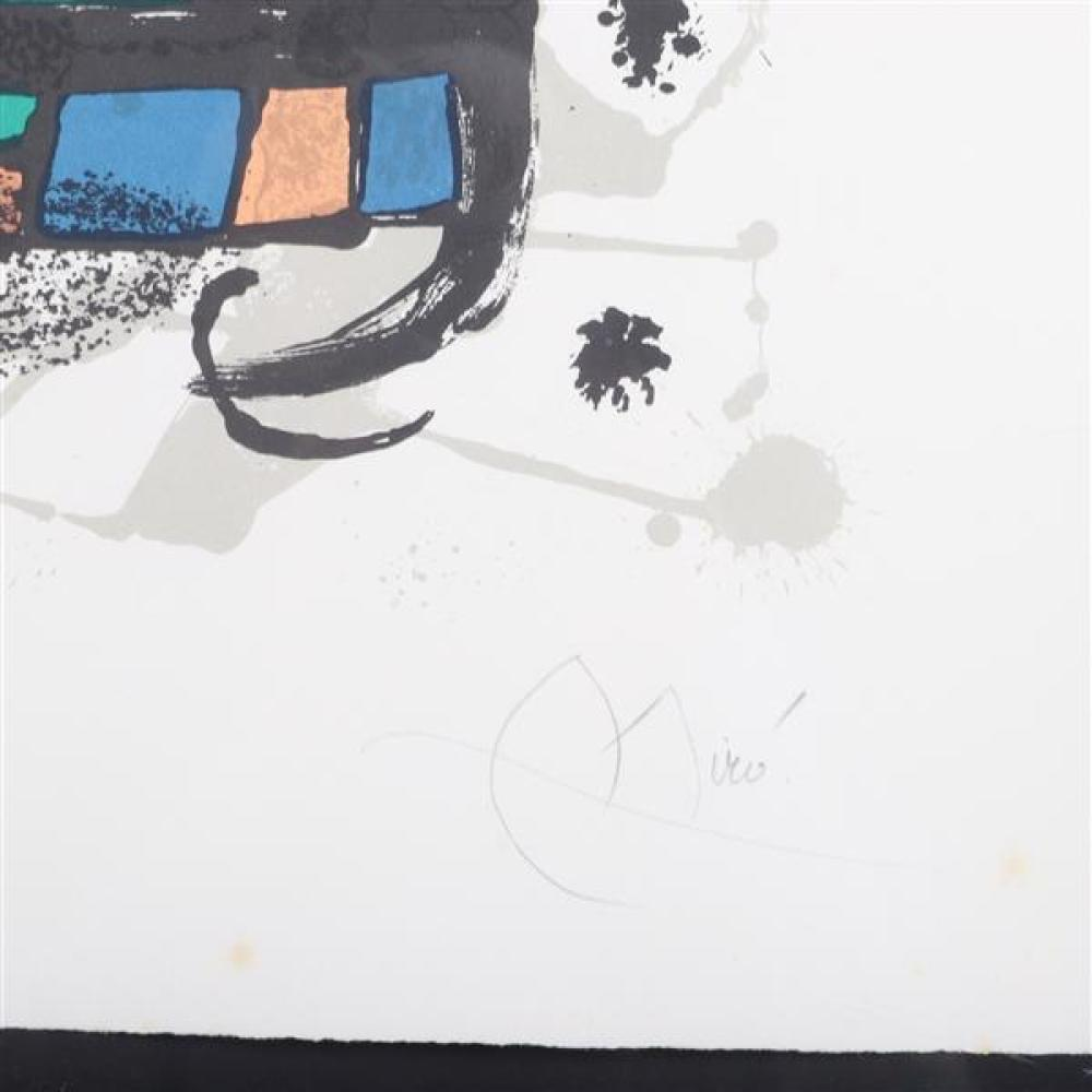 Joan Miro, (Spanish, 1893-1983), Lithographs III: plate 6, 1977, lithograph in colors on wove paper, 19 1/4