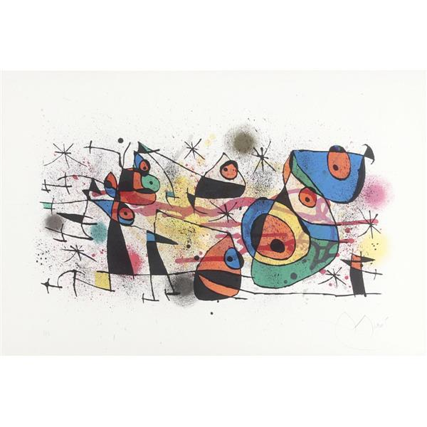 "Joan Miro, (Spanish, 1893-1983), Ceramique, 1971, color lithograph, 18 1/2""H x 27 3/4""W (sight), 26""H x 35 1/2""W (frame)"
