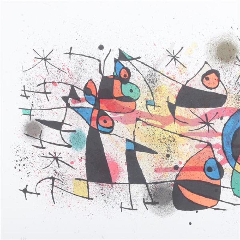 "Joan Miro, (Spanish, 1893-1983), Ceramique, 1971, color lithograph, 18 1/2""H x 27 3/4""W (sight), 26""H x 35 1/2""W (frame)"