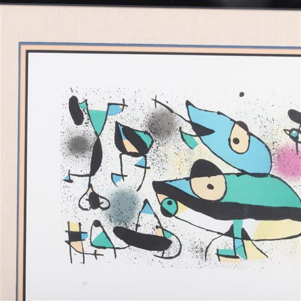 Joan Miro, (Spanish, 1893-1983), ca.1971, color lithograph, 16 1/2