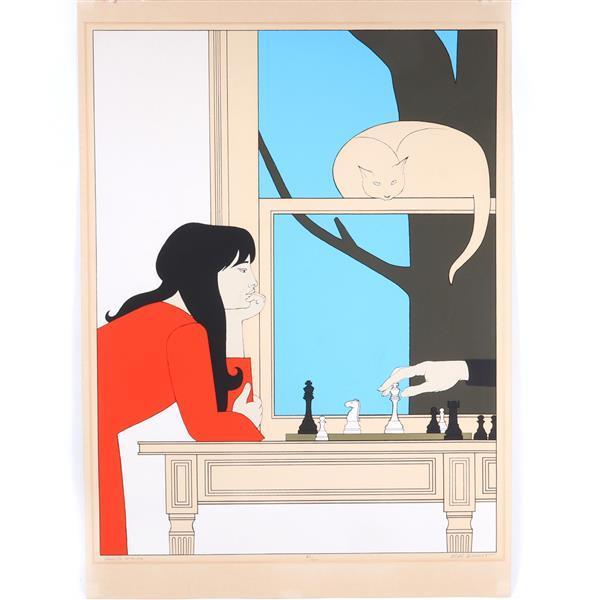 """Will Barnet, (American, 1911-2012), Seventh Season, color lithograph, 37""""H x 28 1/2""""W (plate), 41"""" x 29 1/4""""W (paper)"""
