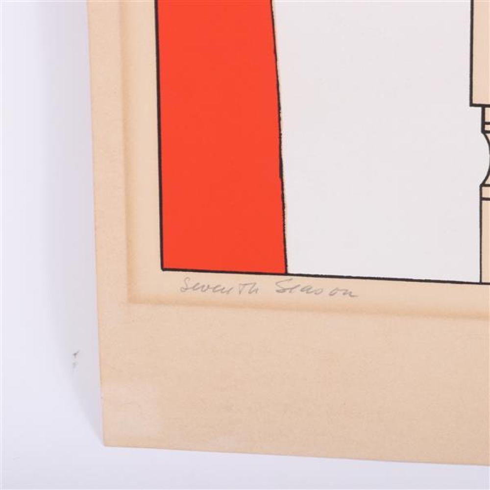 Will Barnet, (American, 1911-2012), Seventh Season, color lithograph, 37