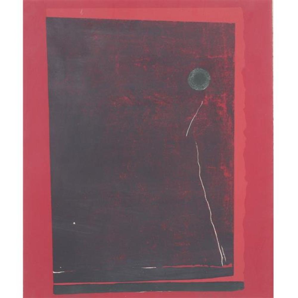 "Kenneth Tyler, (American, 20th Century), Red with Balloon, lithograph, artist proof, 18""H x 15""W (sight), 24 1/2""H x 21""W (frame)"