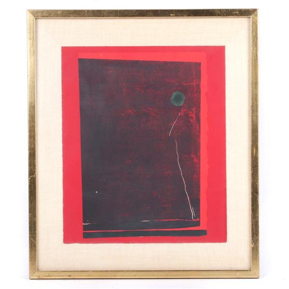Kenneth Tyler, (American, 20th Century), Red with Balloon, lithograph, artist proof, 18