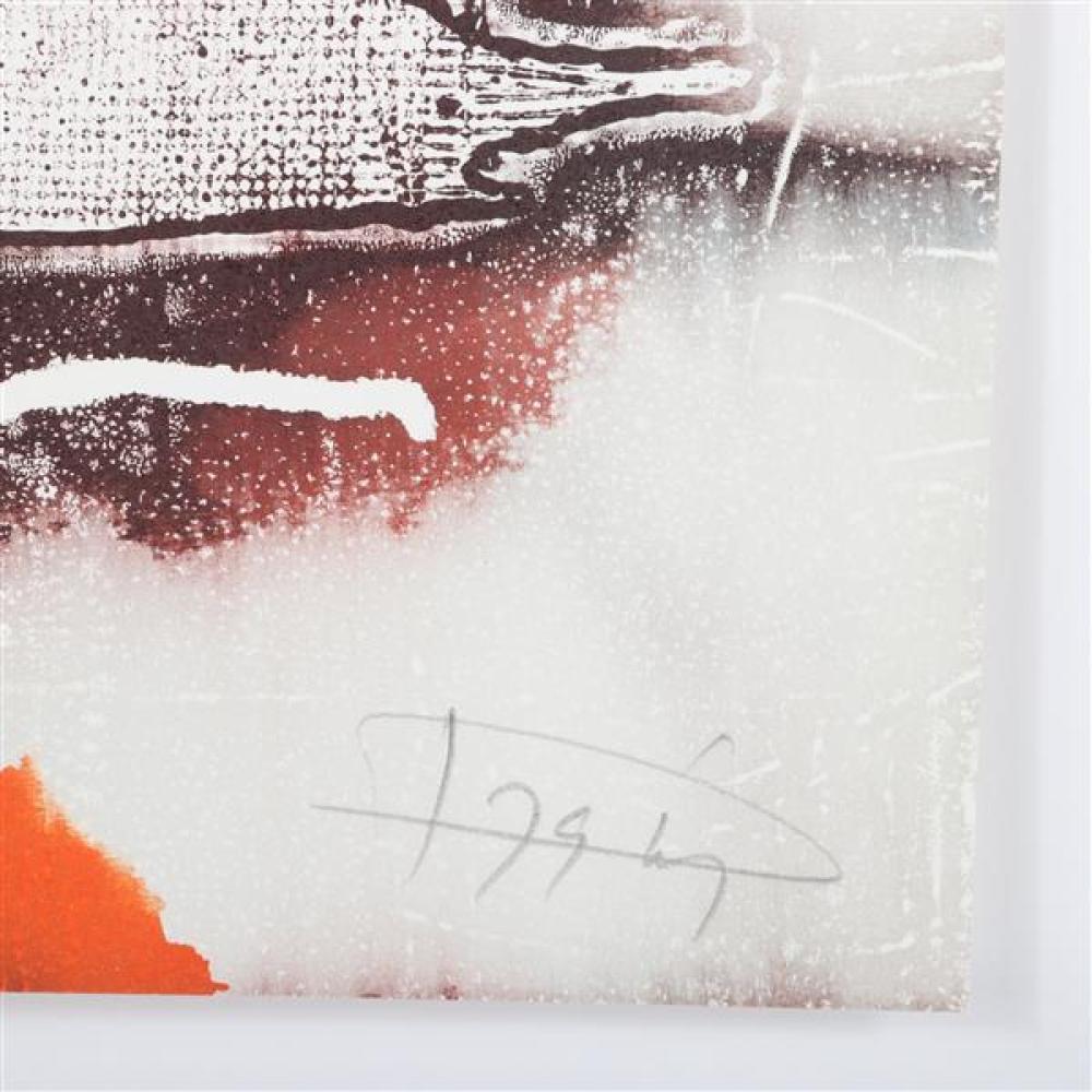 "Laszlo Dus, (California / Hungary, b.1941), Litho II, ca.1979, lithograph, 12""H x 9""W"
