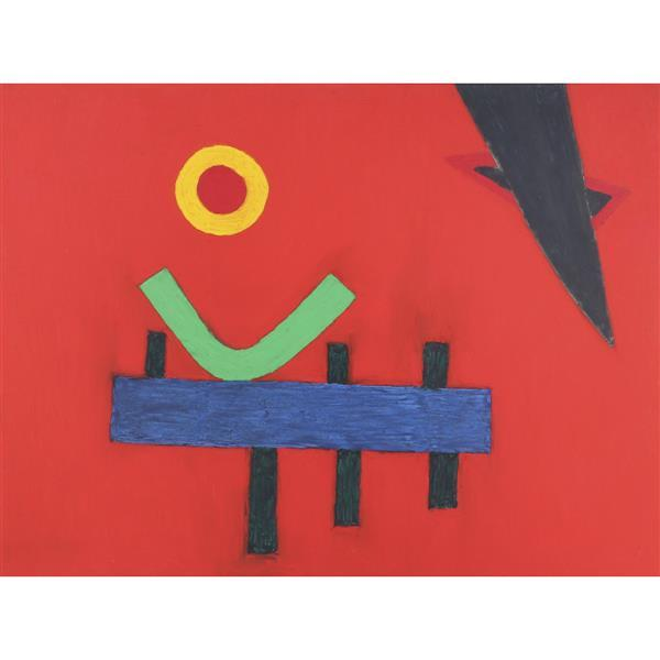 """Steven Conant, (Indiana, 20th Century), Rocking Horse, 1993, oil on canvas, 36""""H x 48""""W (panel), 37""""H x 49""""W (frame)"""
