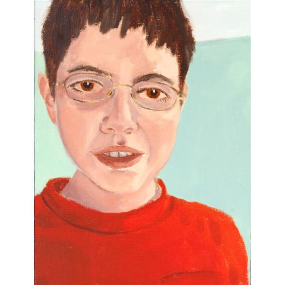 "Kathleen Dugan, (American / Indiana, b.1961), ""Lewis"", 2005, oil on canvas, 16 1/4""H x 12 1/4""W (sight), 17 1/4""H x 13 1/4""W (frame)"