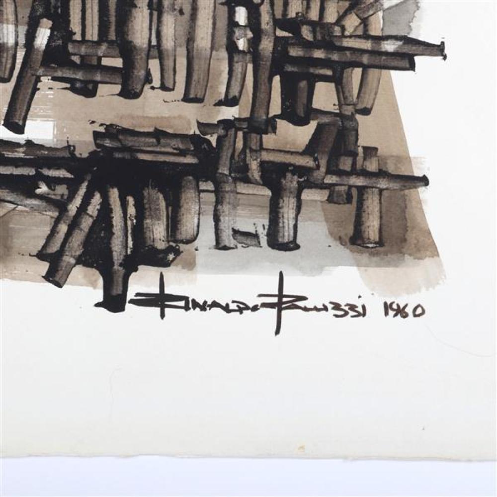 "Rinaldo Paluzzi, (Pennsylvania / Spain, 1927 - 2013), untitled, 1960, watercolor on paper, 22 1/2""H x 30 1/2""W"