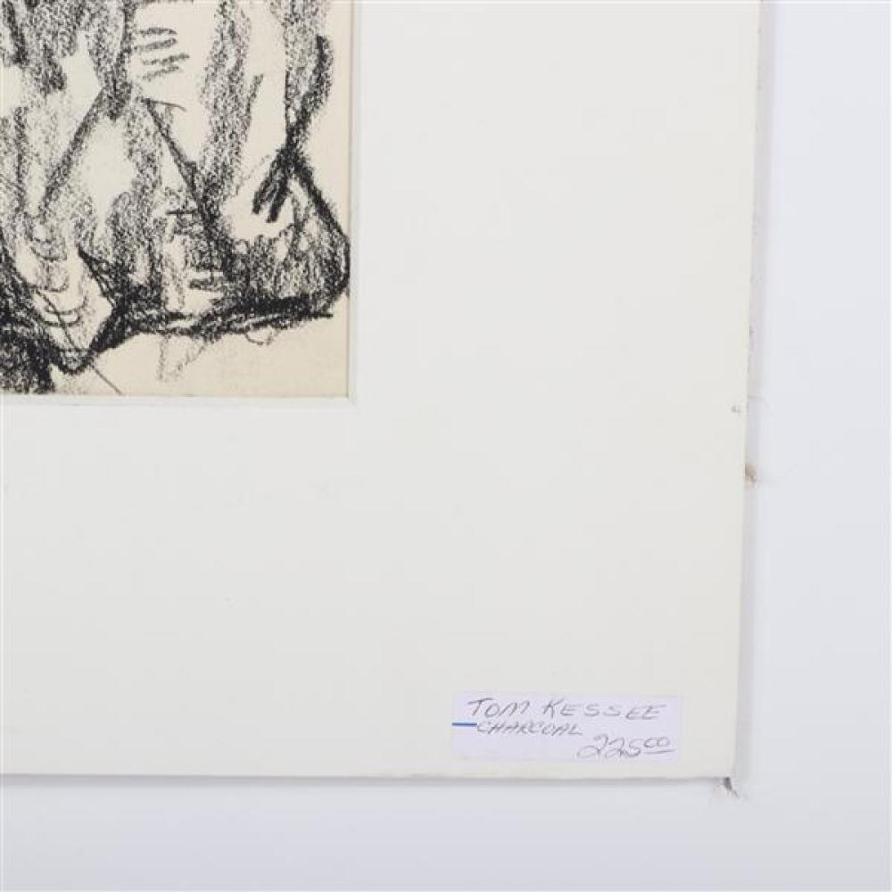 Tom Keesee, (Indiana, b.1954), Two works, 1984, charcoal on paper, and