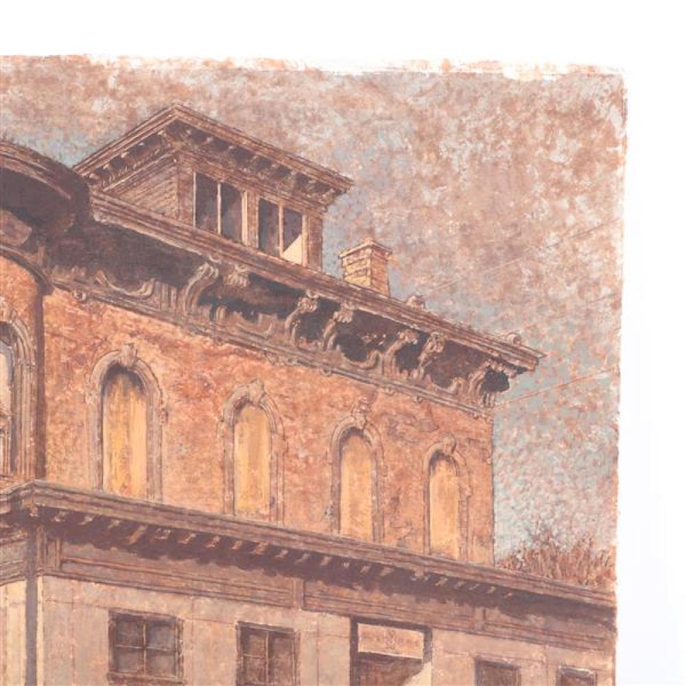 Harry A. Davis Jr., (Indiana, 1914-2006), Italianate, 1238 N. Park Ave., Indianapolis, IN (corner of 13th & Park), watercolor and ac...