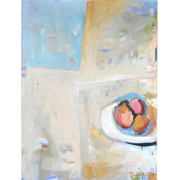 "Cindy Wingo, (American, 20th century), Chelsea Morning II, acrylic on canvas, 48""H x 36""W"