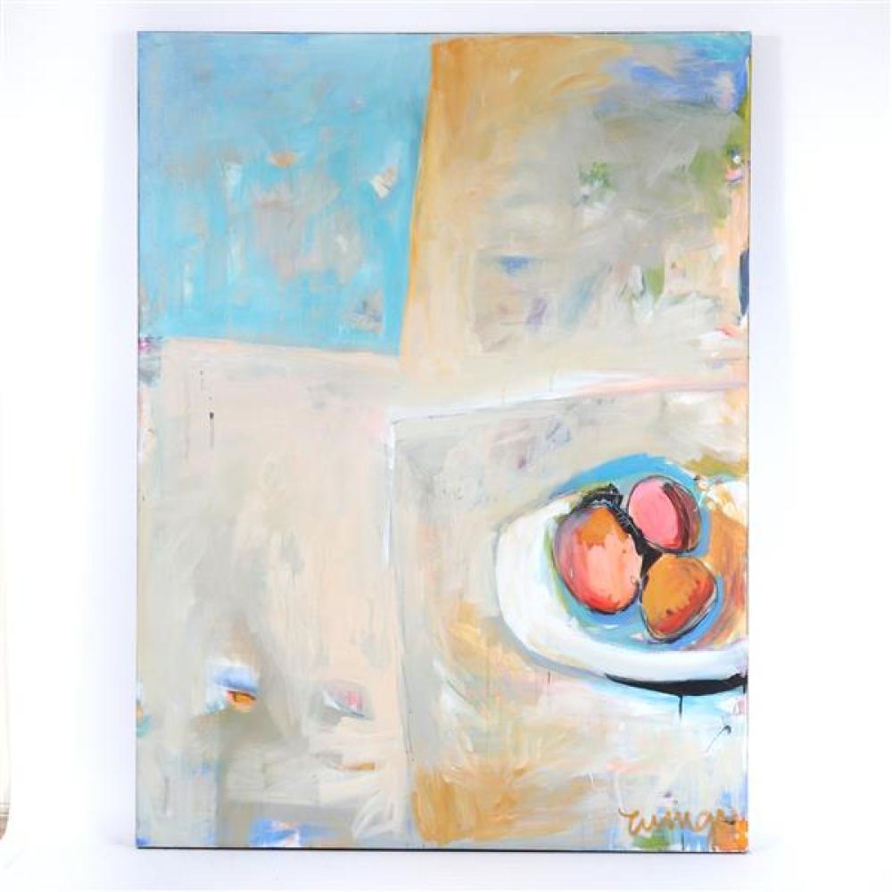 Cindy Wingo, (American, 20th century), Chelsea Morning II, acrylic on canvas, 48