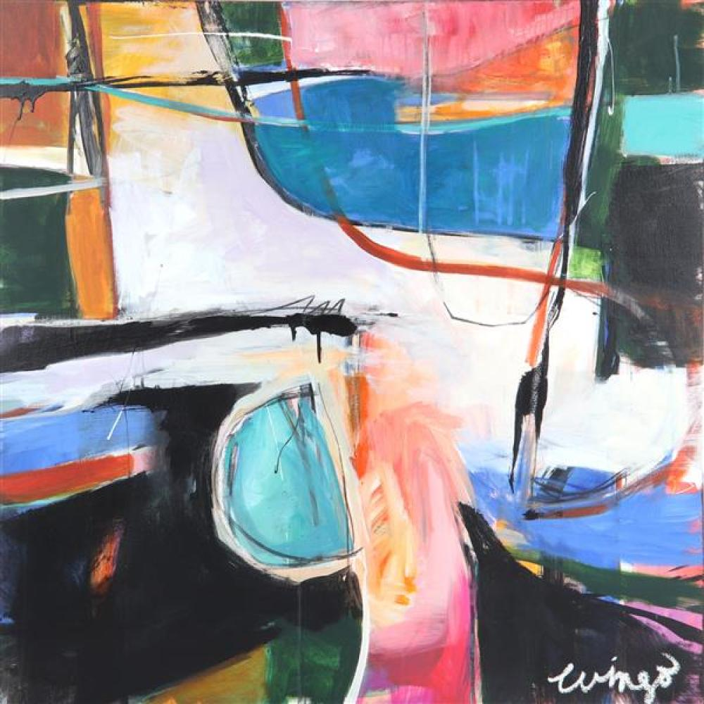 "Cindy Wingo, (American, 20th century), A Color Study, Acrylic on canvas, 36""H x 36""W"