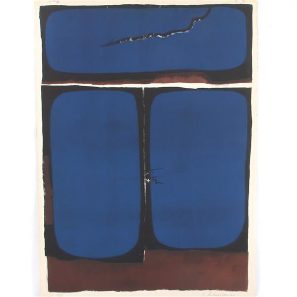 "Garo Antreasian, (American, b.1922), untitled abstract, 1962, lithograph, 28""H x 20""W (print), 29 1/2""H x 21 1/4"" (sheet)"