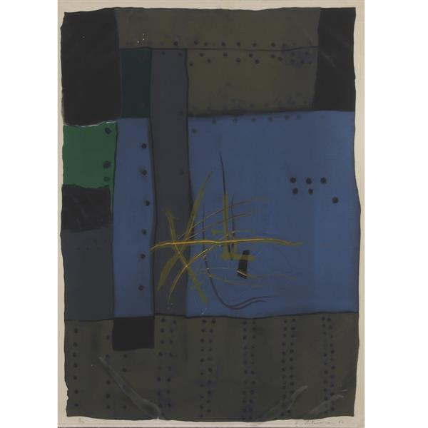 "Garo Antreasian, (American, b.1922), Untitled Abstract, 1962, lithograph, 29 1/4""H x 21 1/2""W"
