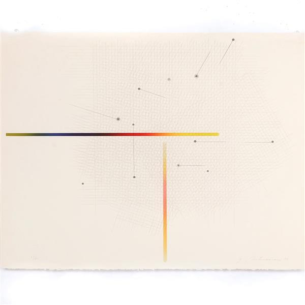"Garo Antreasian, (American, b.1922), Project I lithograph; Lakeside Studio, pub.; Paul Maguire Inc., prntr., 1977, lithograph, 20""H..."