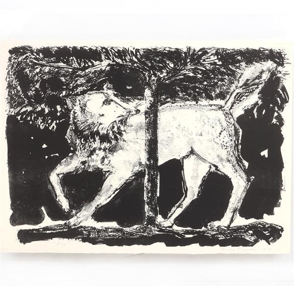 """Rudy Pozzatti, (American, b.1925), Fox, 1964, lithograph, 20""""H x 27 1/2""""W (image), 25 1/4""""H x 32 1/4"""" (sheet)"""