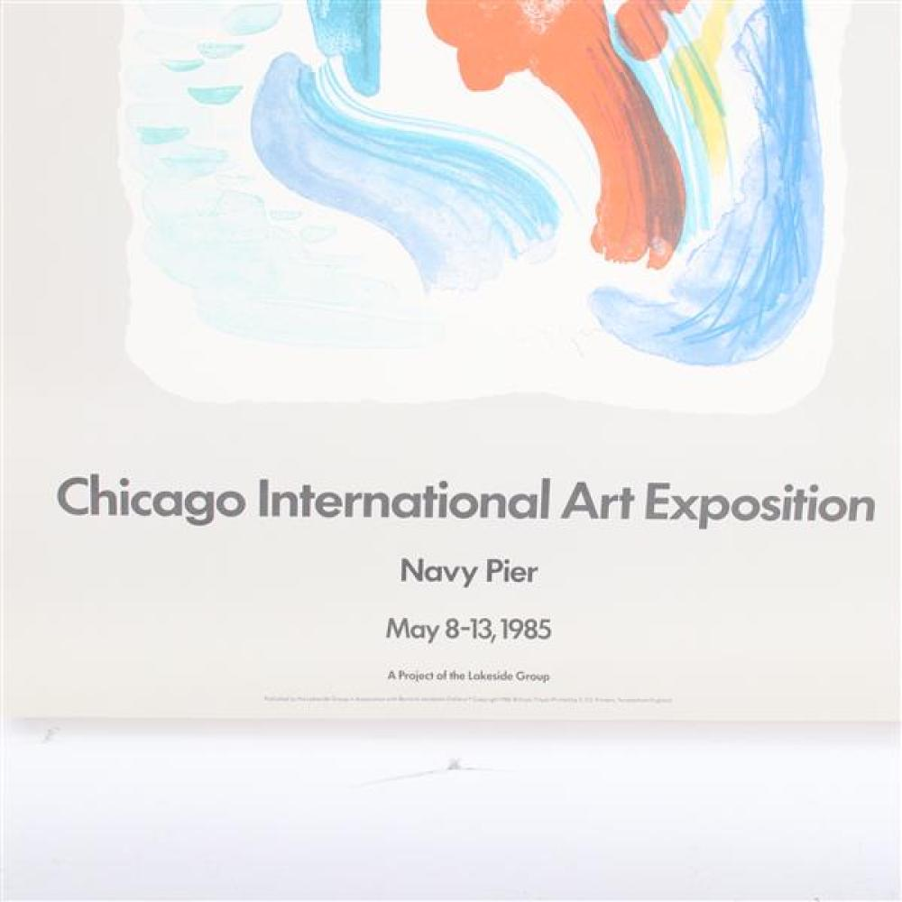 Chicago International Art Exposition lithograph Exhibition poster, Navy Pier, 1985.