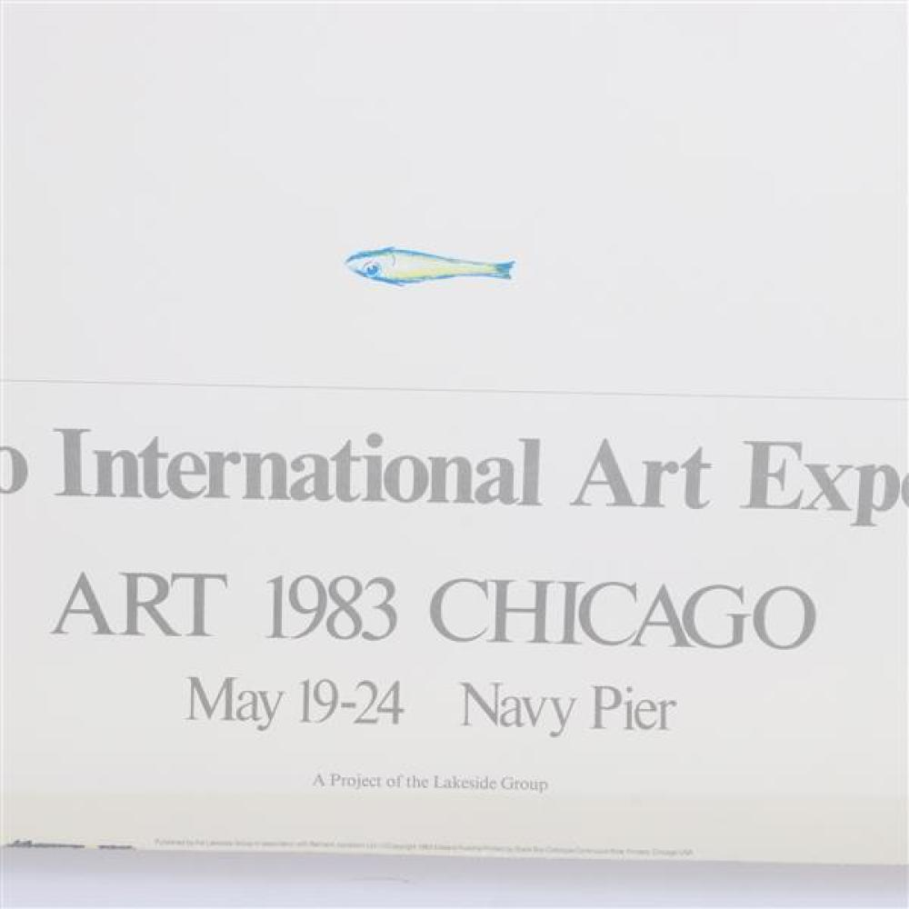 Chicago International Art Exposition lithograph Exhibition poster, Navy Pier, 1983.