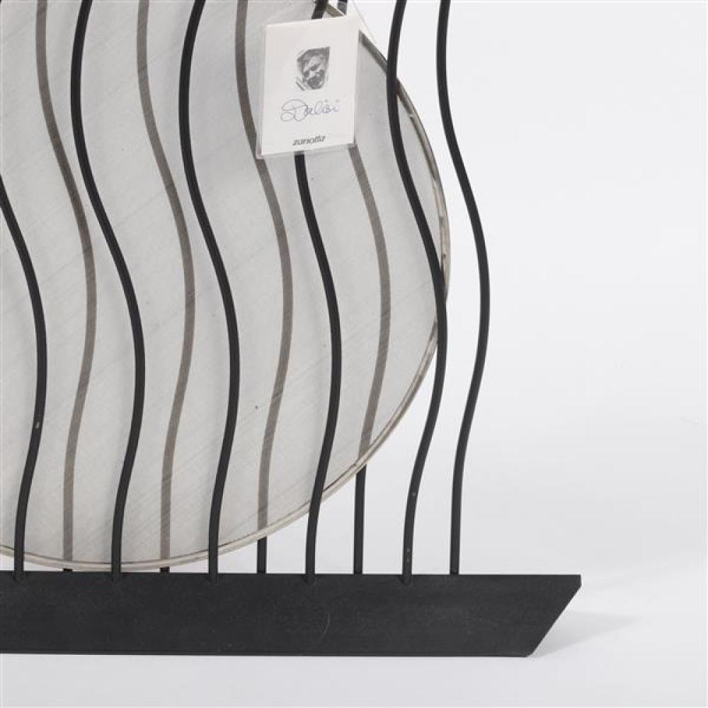 Zanotta 'Giroglifo' wrought iron fire screen designed by Riccardo Dalisi 1993. Signed original.