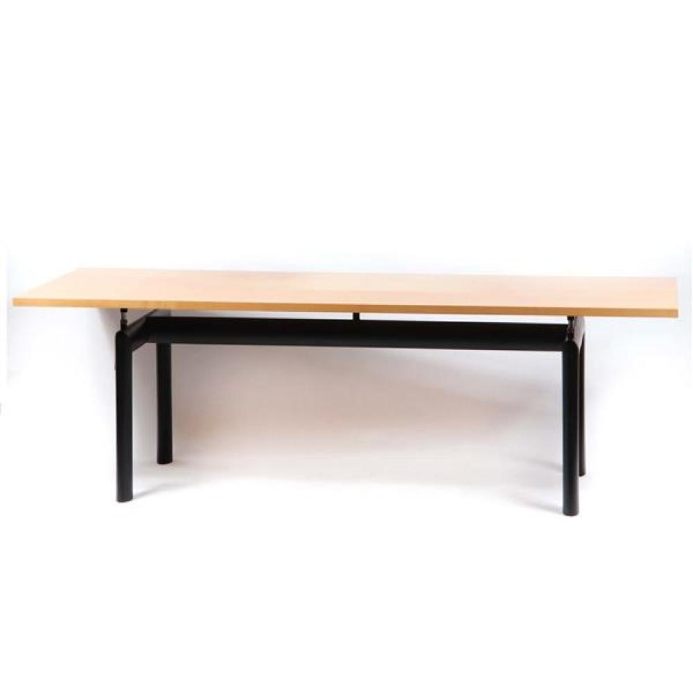 Cassina LC6 dining table designed by Le Corbusier.