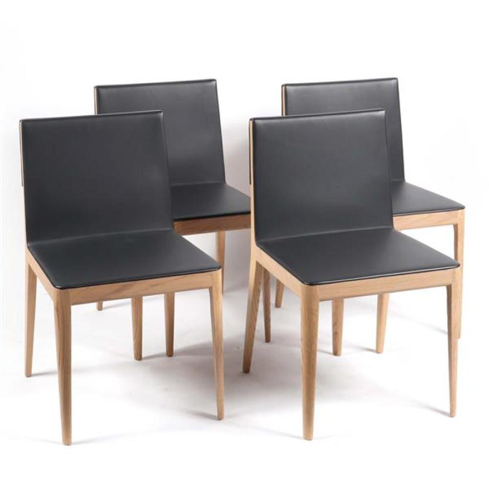 B&B Italia set of 4 'EL' dining chairs designed by Antonio Citterio.